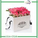 caixas de transporte da flor do chapéu das caixas de presente da flor de Rosa do papel 350G revestido personalizadas