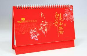 China customization desktop calendar offset paperprinting hardcover binding on sale