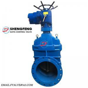 China soupape à vanne malléable de la fonte électrique DN50 du fer bs5163 Z945X-16Q de marque de shengfeng on sale