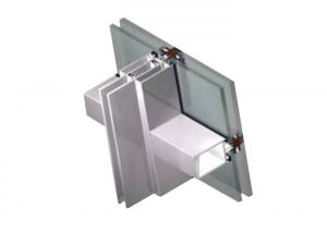China Dark Gray Fire Rated Curtain Wall , High Assembly Precision Unitized Glazing System on sale
