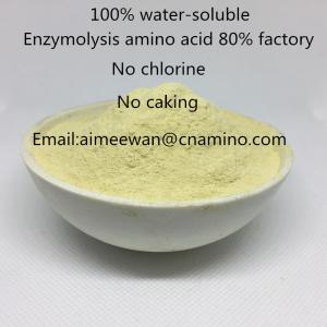China Hot sale plant origin compound amino acid powder 80% organic fertilizer,no chloride,no salt,100% water-soluble on sale