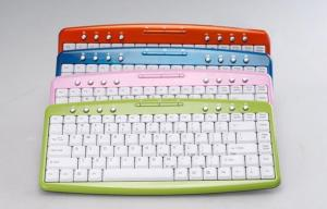 China PS / 2 membrane keyswitch Cordless USB Keyboard with tactile feedback WES-K-001 on sale