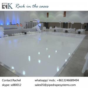 China easy install white vinyl dance floor tiles in wedding supplies on sale