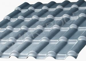 China Green House Top Cover Synthetic Resin Roof Tile With Gloss Surface , Embossed on sale