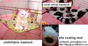 China cotton nest,fabric hammock,canvas bed,coral velvet,pile coating,pet accessories on sale