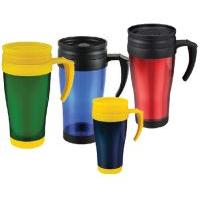 Double-wall plastic travel mug ( car cup )