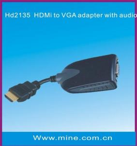 China HDMI To VGA Adapter/Converter with Audio Output on sale