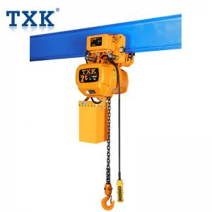 China Construction 2 Ton Electric Chain Hoist Traveling Type 1P 3P Power With Lifting Chain on sale