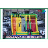 China 9.5*7.5*6.5m Colorful Inflatable Bouncer Slide With Climbing Wall For Amusement Park on sale