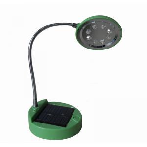 China Lampe actionnée solaire portative bleue de rendement élevé/de vert ABS LED avec 8 PCs LED on sale