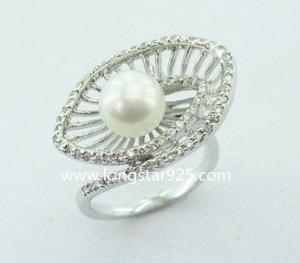 China 925 silver rings, cz rings,pearl rings on sale