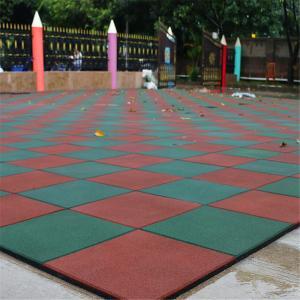 Outdoor Nontoxic Anti Slip Gym Rubber Mat Rubber Tile For