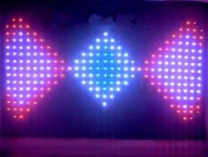 China RGB full color Fireproof indoor LED video curtain light for stage / wedding party 3*4m on sale