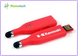 China Touch Pen USB Flash Drive , Red High Capacity USB Memory Stick on sale