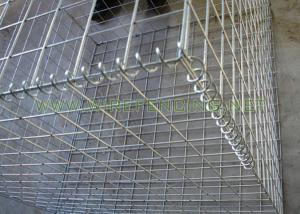 China Galvanized Welded Wire Mesh Gabion Box for Stone Building Green on sale