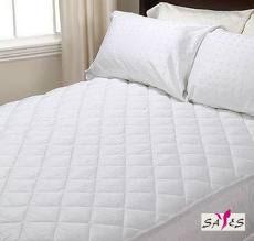 China Queen Size Zippered Quilted White Microfiber Hotel Mattress Cover on sale