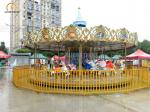 Mechanic Amusement Park Carousel , 380 V Kids Carousel Ride 24 Seats