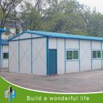 2016 hot sale single storey prefabricated camp house