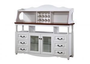 China Veneer Finishing White Wood Sideboard , Modern White Buffet Sideboard Cabinet on sale