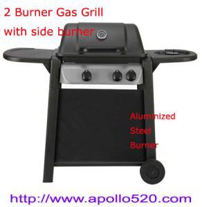 China 2 Burner Plus Side Burner Gas Barbecue on sale