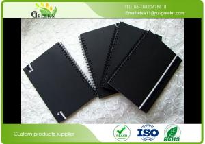 China Custom Ruled Black Cardboard Hardcover Spiral Notebookfor School / Office on sale