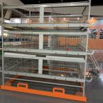 Chickens Farming Feeding 4 Cell H Type Poultry Cage