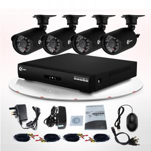 China Wireless 700TVL CCTV DVR Kit with 4CH IR Waterproof Bullet And Dome Camera Kit DVR on sale