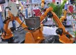"""High-Strength Small Industrial Robot For Welding , 6.4"""" Color Led Display"""