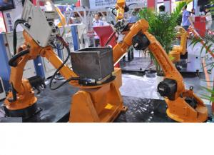 """China High-Strength Small Industrial Robot For Welding , 6.4"""" Color Led Display on sale"""