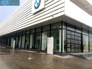 China 110V 420mm Panel Glass Front Garage Doors For 4S Shop on sale