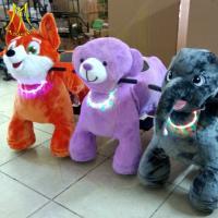 Hansel fun indoor games for kids plush battery powered animal bikes