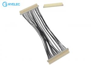 China 30 Pin Lvds Flex Cable DF19G - 30S Hirose 1.0mm Pitch To DF19G-30S For TV / DVD With 30awg on sale