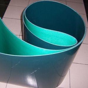 China Surface douce vert-foncé de bande de conveyeur d'unité centrale de polyuréthane on sale