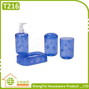 China Sale Promotion Modern Design Round Transparent Bath Set Accessory on sale