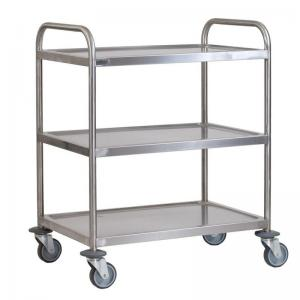 China Hospital Medical Stainless Steel Surgical Trolley Adjustable Every Shelf Height on sale