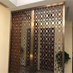 Customized decorative panel in metal stainless steel screen partition for interior divider