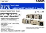 OMRON Switch Mode Power Supply S8VS  (15/30/60/90/120/180/240/480-W