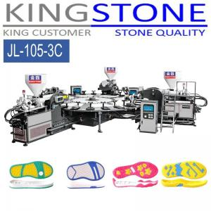 China Kingstone Machinery Rotary 3 Color PVC TPR Sole Injection Machine on sale