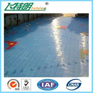 China Les carrelages de verrouillage de gymnase en caoutchouc extérieur portatif 2500N ont suspendu l'apprêtage de plancher de sports on sale