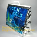 China supplier custom Aluminium foil insulated thermal lunch cooler bag big ice bag for frozen food and lunch bagease