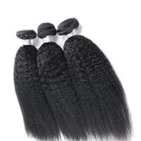China Kinky Straight 8A Grade Virgin Human Hair Bundles No Smell Hair Extension Natural Black on sale