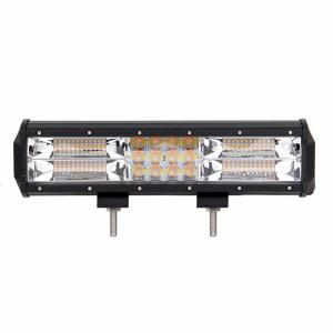 China 180W Dual Color Amber White 12 Inch  Led Strobe Waterproof Warning Light Bar on sale