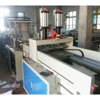 PC Control Plastic Bag Making Machine , Double Layer Four Line T Shirt Bag Making Machine