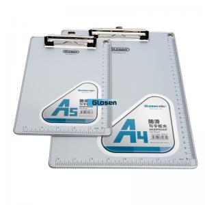 China A5 Personalized Acrylic Foldable Plastic Clip Board Aluminum For Office on sale