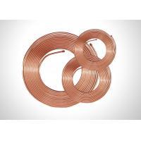 TP2 Soft Copper Pipe Copper Pancake Coil , Refrigeration Copper Pipe 0.35-1.20mm Thick