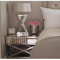 China Bedroom Mirror Tables Furniture Silver / Gold Color Optional Stable Structure on sale