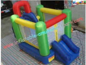 China Customized Mini Nylon Inflatable Bounce Houses , Bounce Slide House For Kids on sale