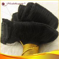 China Straightwave 18 Inch 100 Human Hair Clip In Hair Extensions For Women on sale