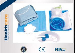 China Durable SMS Disposable Surgical Packs Sterile Cath Lab Kit In Blue Color on sale