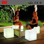 Plastic LED  Cube luminous Stool for party patio  chirstmas decorating